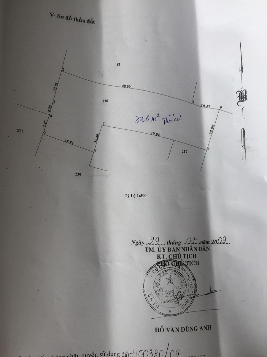 1000m2 Đất Thổ Cư Xã Phước Vĩnh An