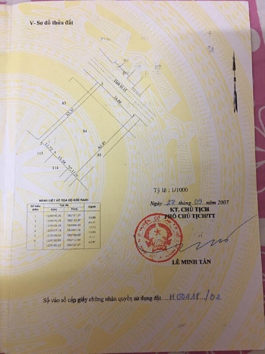 2200M2 Mặt tiền tỉnh lộ 15 xã an phú