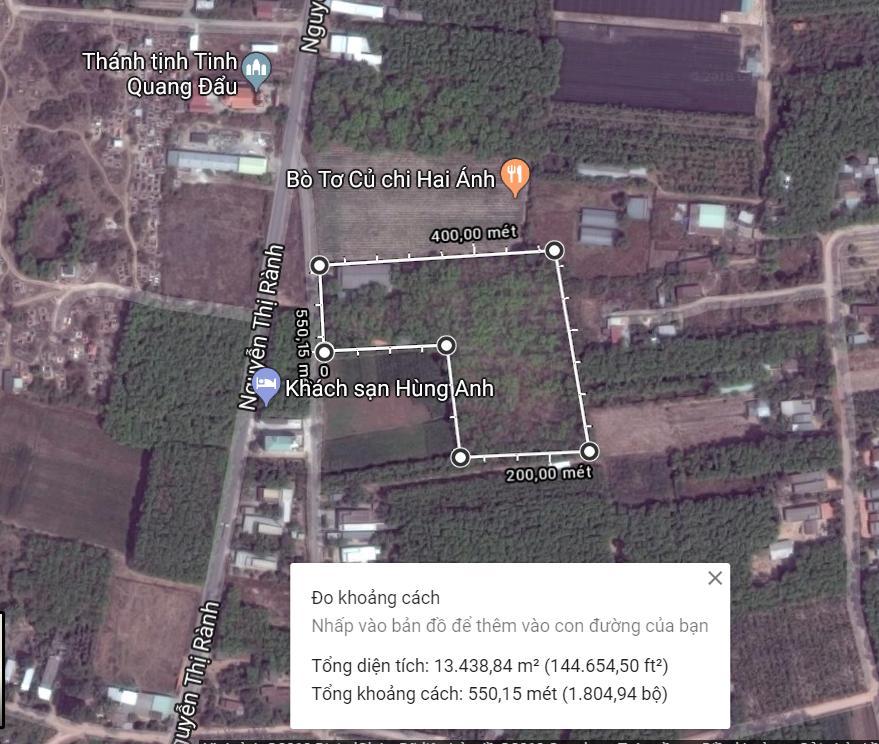 13000m2 MT Nguyễn Thị Rành, Xã Nhuận Đức